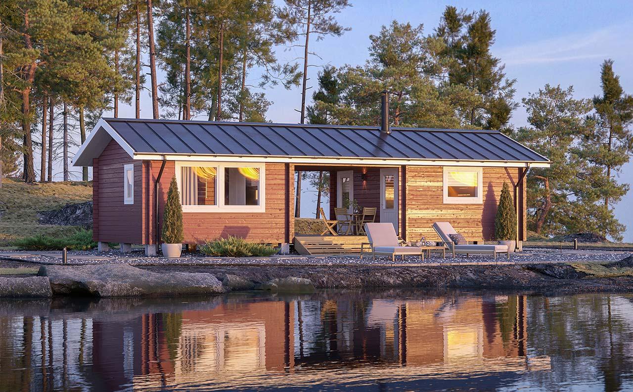 Laavuvaara Hirsimökki Ranta Villa